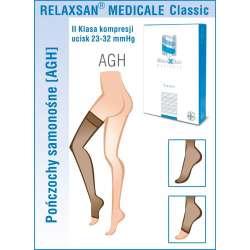 RELAXSAN Pończochy samonośne medyczne II klasy ucisku 23-32 mmHg - Linia Medicale Classic