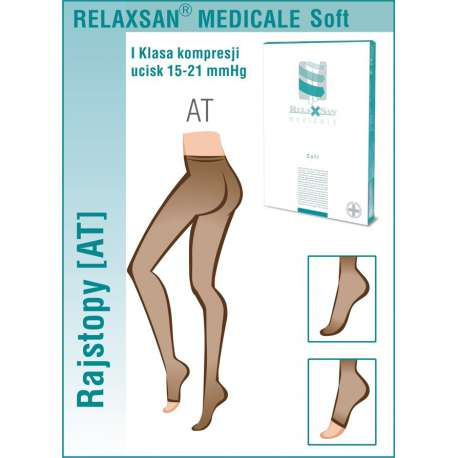 RELAXSAN Rajstopy medyczne I klasy ucisku 15-21 mmHg - Linia Medicale Soft