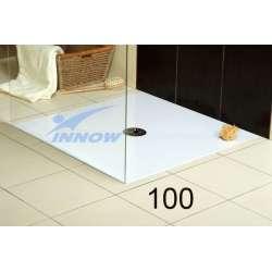 Brodzik bezprogowy kwadratowy / p.okrągły 100x100 cm RÓWNIK 100 INNOW