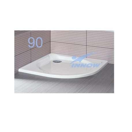 Brodzik niskoprogowy kwadratowy / p.okrągły 90x90x3,5 cm LISTEK 90 INNOW