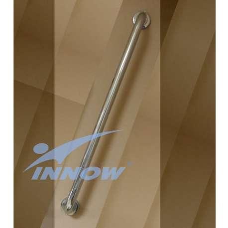 Uchwyt łazienkowy ścienny prosty z krytym mocowaniem 80 cm INOX GKN 101C INNOW