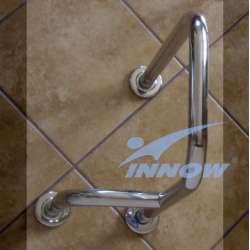 Podpora umywalkowa prawa/lewa z krytym mocowaniem 75 cm INOX GKN 105A INNOW