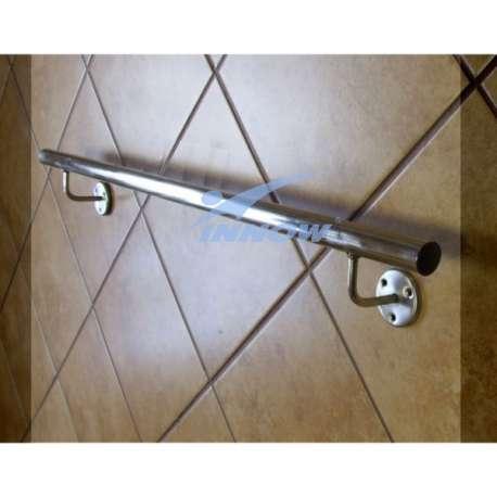 Poręcz korytarzowa prosta ze stali nierdzewnej INOX do 1m GN 101K INNOW