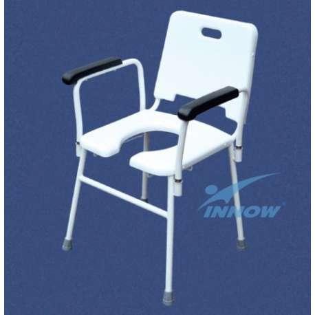 Krzesło sedesowe z poręczami wyjmowanymi C 203 INNOW