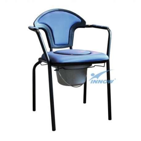 Krzesło sedesowe z poręczami stałymi tapicerowane C 202 T INNOW