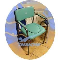 Krzesło sedesowe z poręczami stałymi tapicerowane C 202 C INNOW