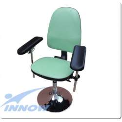 Krzesło do pobierania krwi chromowane (obrotowe) G 670LUX INNOW