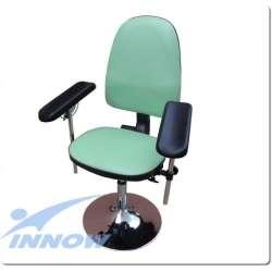Krzesło do pobierania krwi chromowane (nie obrotowe) G 670LUX (blokowane) INNOW