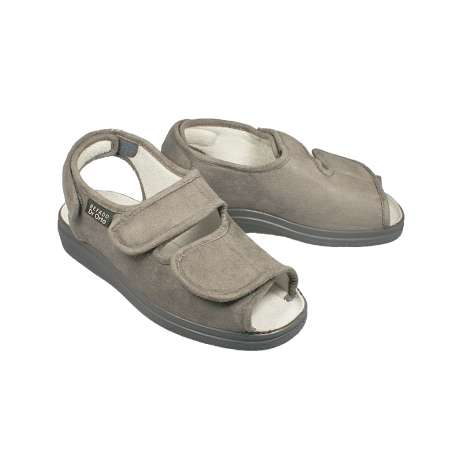 Sklep medyczny. Obuwie dr Orto 676D popiel - popielate sandały - buty na haluksy sklep internetowy, buty na stopę cukrzycową.