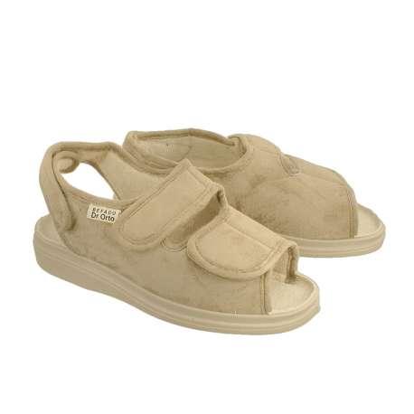Sklep medyczny. Obuwie dr Orto 676D beż - sandały damskie beżowe, buty na haluksy sklep internetowy, stopy cukrzycowe, miękkie.