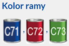 Wózek elektryczny TIMIX SU VERMEIREN. Kolor ramy: niebieski, czerwony , zielony