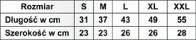 Temblak z pasem piersiowym 053 RENA. Tabela rozmiarów. Masz  problem z kupnem – zamów telefonicznie 735 575 252
