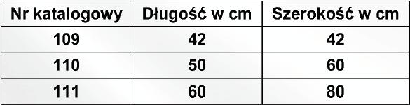 Poduszka przeciwodleżynowa pikowana 109 RENA. Rozmiary: nr 109 42x 42 cm, nr 110 50x60 cm, nr 111 60x80 cm