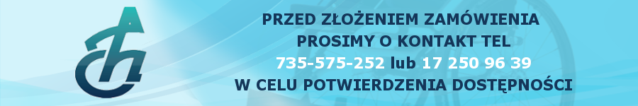 Przed złożeniem zamówienia prosimy o kontakt tel. 735-575-252 lub 17 250 96 39 w celu potwierdzenia dostępności