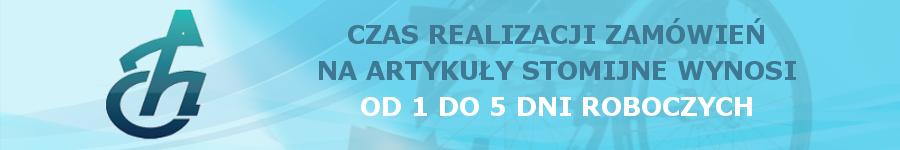 Czas realizacji zamówień na artykuły stomijne wynosi od 1 do 5 dni roboczych.