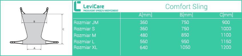 Kamizelka Human Care Comfort Sling LEVICARE. Rozmiary.Masz  problem z kupnem – zamów telefonicznie 735 575 252