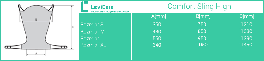 Kamizelka Human Care Comfort Sling High LEVICARE. Rozmiary. Masz  problem z kupnem – zamów telefonicznie 735 575 252