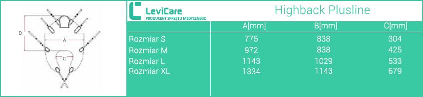 Kamizelka Human Care High back Plusline LEVICARE. rozmiary. Masz  problem z kupnem – zamów telefonicznie 735 575 252