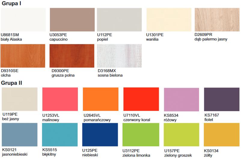 """Stolik przyłóżkowy """"przyjaciel"""" SP-1 TECH-MED Bydgoszcz. Dostępne kolory I grupa cenowa: biały Alaska, capuccino, popiel, wanilia, dąb palermo jasny, olcha, grusza polna, sosna bielona. II grupa cenowabeż jasny, malinowy, pomarańczowy, czerwony koral, różowy, fiolet, jasnoniebieski, błękitny, niebieski, zielona limonka, zielony groszek, żółty"""