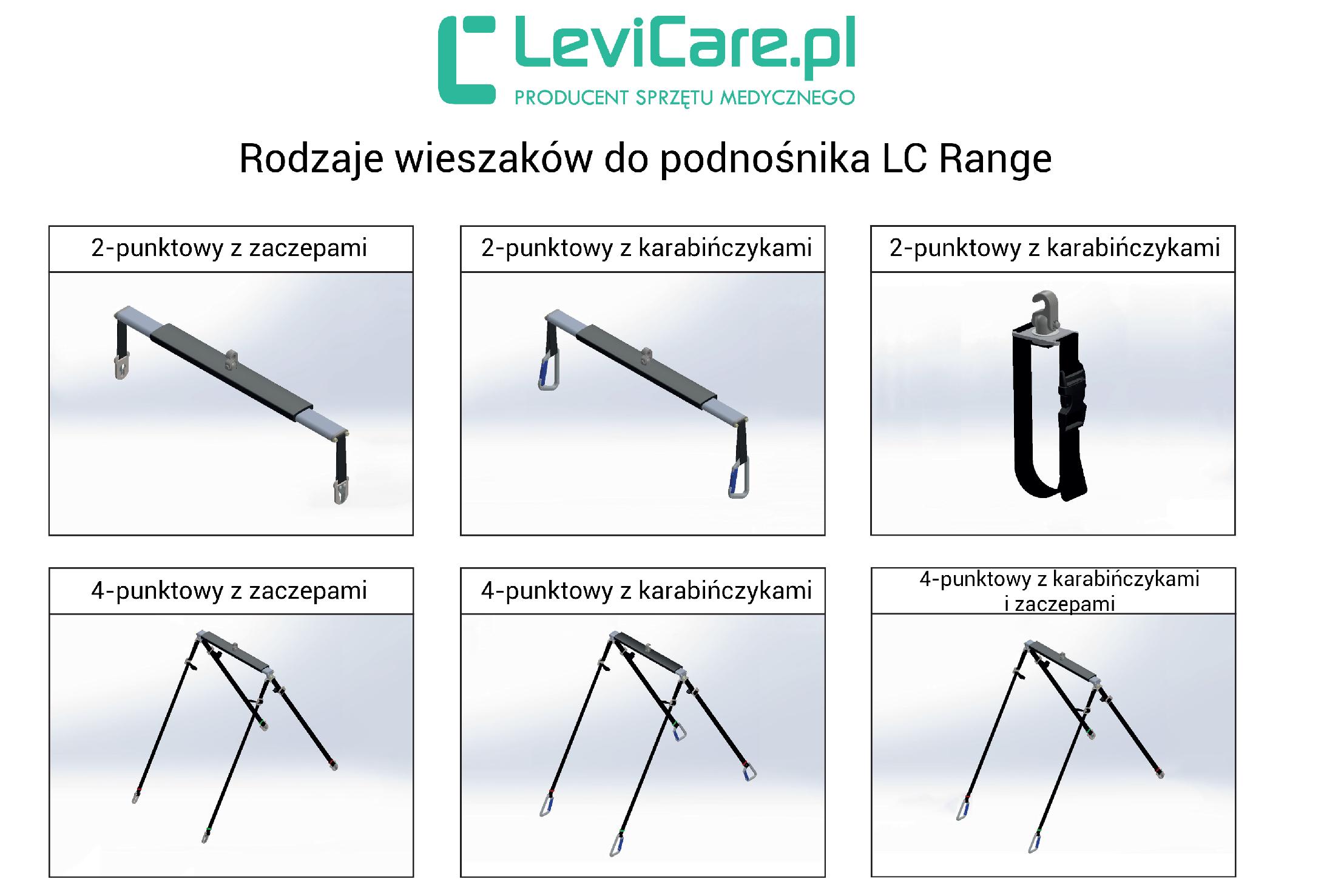 Podnośnik Smart Lifter LC LEVICARE. Rodzaje wieszaków do podnośnika. Masz problem z kupnem – zamów telefonicznie 735 575 252