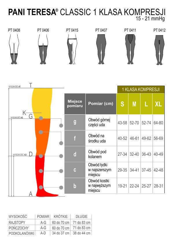 Rajstopy przeciwżylakowe męskie CLASSIC PANI TERESA. Tabela rozmiarów Masz problem z kupnem – zamów telefonicznie 735 575 252