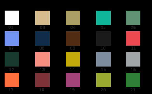 Kolory obicia kozetki - Meble medyczne. Czas realizacji zamówień jest zależny jest od możliwości producenta. Prosimy o kontakt podczas składania zmówienia.