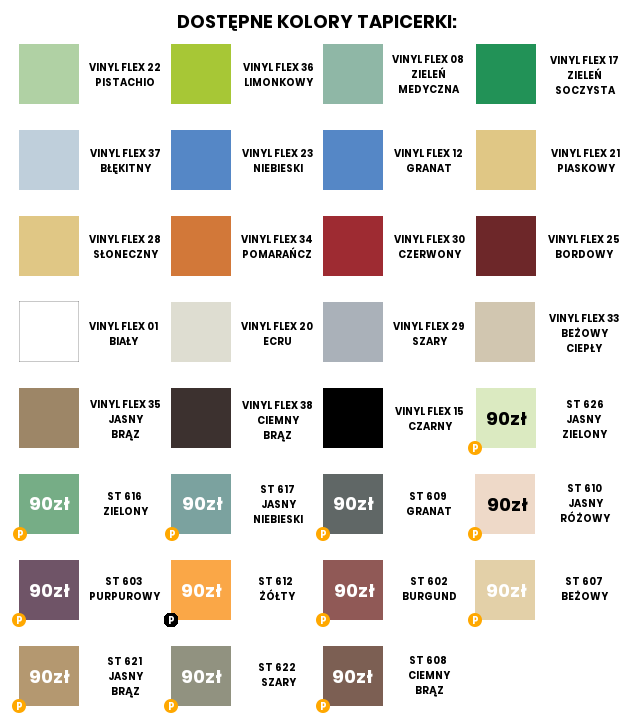 Stół do masażu Allora HABYS. kolory tapicerki. Masz problem z kupnem – zamów telefonicznie 735 575 252