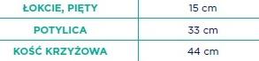 Timago Poduszka przeciwodleżynowa z granulatem okrągła 15 cm (bawełna) R-15. Tabela rozmiarów: łokcie,pięty 15 cm, potylica 33cm, kość krzyżowa 44 cm.