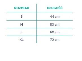 ORTEZA STABILIZJĄCA GOLEŃ- UDO TGO-C-505 TIMAGO DANE TECHNICZNE ROZMIAR S- 44 CM, ROZMIAR M -50 CM, L - 60 CM,  XL -70 CM