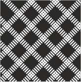czarny wzór romby