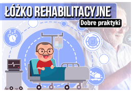 Łóżko rehabilitacyjne dla osoby niepełnosprawnej.