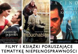FILMY I KSIĄŻKI , PORUSZAJĄCE TEMATYKĘ NIEPEŁNOSPRAWNOŚCI